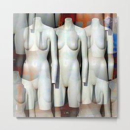 Altered Mannequins Metal Print