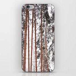 Tall Pine Trees - Winter Scene #decor #society6 #buyart iPhone Skin