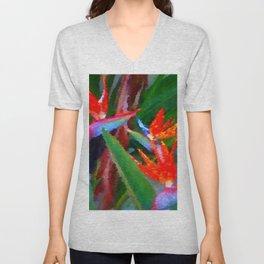 Bird of Paradise Family Abstract Unisex V-Neck
