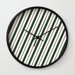 Peppermint Candy Cane Wall Clock