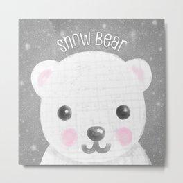 Snow Bear Metal Print