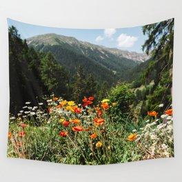 Mountain garden Wall Tapestry