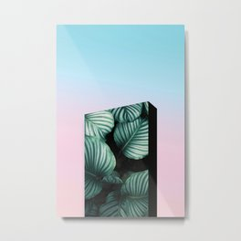 Skyline Urban Architecture Building Travel Pastel Sunset Surreal Collage Modern Abstract Metal Print