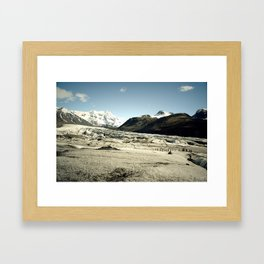Ice Pathways Framed Art Print