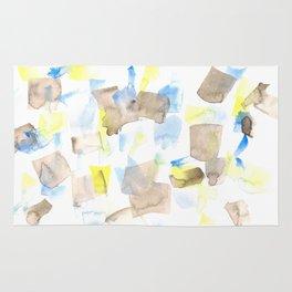 180515 WATERCOLOUR ABSTRACT WP 18| Watercolor Brush Strokes Rug