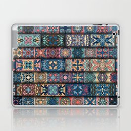 Vintage patchwork with floral mandala elements Laptop & iPad Skin