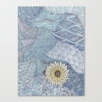 daisy Canvas Prints featuring Daisy by sinonelineman