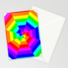 8 Color Octagon Target Stationery Cards
