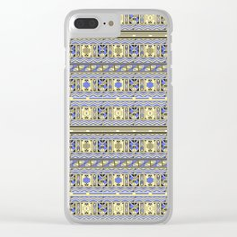 African Tribal - Ndebele Tribe Style Pattern Clear iPhone Case