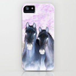 infra red horses iPhone Case