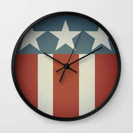 Three Starred Spangle Banner Wall Clock