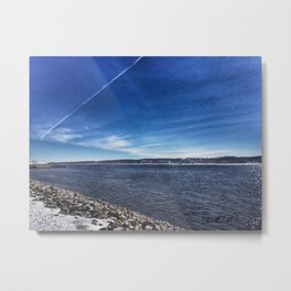Mississippi Riverfront - Bettendorf, Iowa - Winter 2017 Metal Print