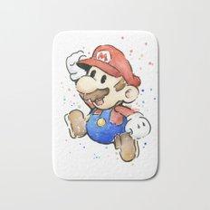 Mario Watercolor Bath Mat