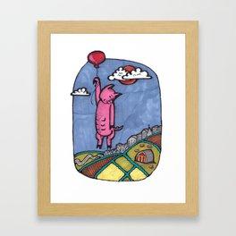 Pig Kinda Fly Framed Art Print