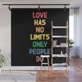 Love humor typography illustration - love has no limits only people do Wall Mural