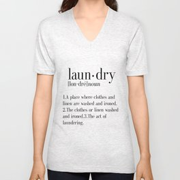Laundry definition | Dictionary word | Laundry print | Instant download | Printable quote | Dictiona Unisex V-Neck