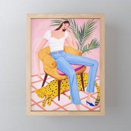 Bohemian Pink Room Framed Mini Art Print