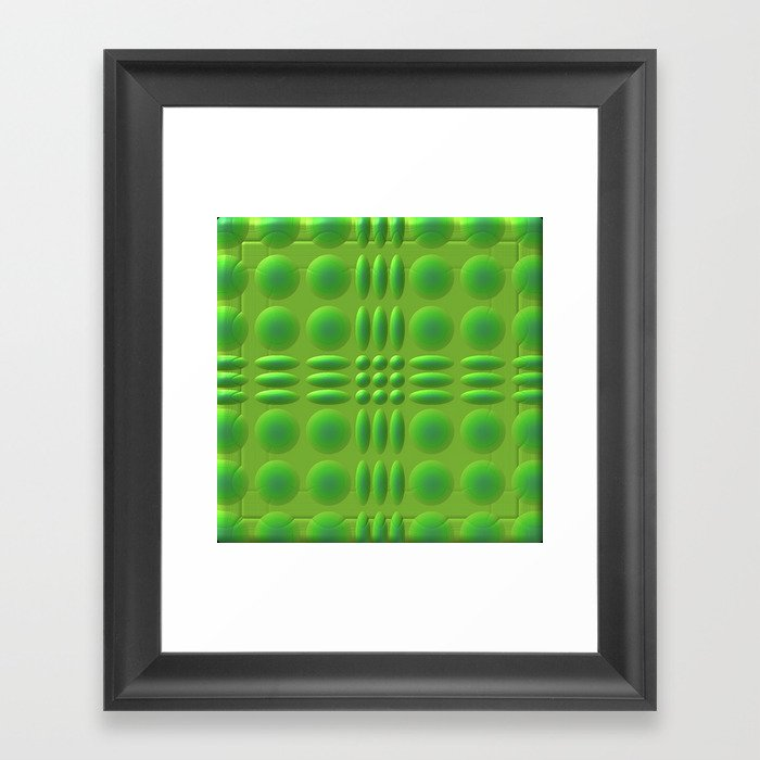 Puffy Green Framed Art Print