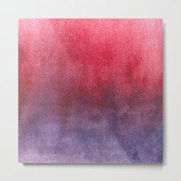 red-violet watercolor Metal Print