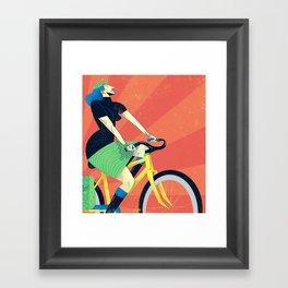 Summer Riding Framed Art Print