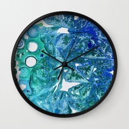 Sea Leaves, Environmental Love of the Ocean Blue Wall Clock
