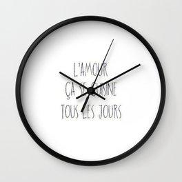 L'amour ça se cuisine Wall Clock