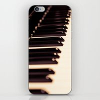 piano iPhone & iPod Skins featuring piano by noirblanc777