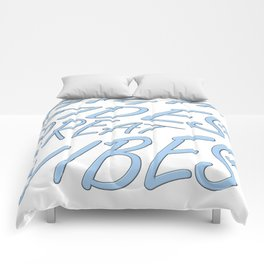 High Tides Great Vibes Summer Surf Text Comforters