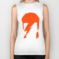 bowie Biker Tanks featuring BOWIE by eve orea