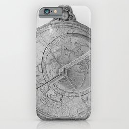 Astrolabe, showing front of mechanism iPhone Case