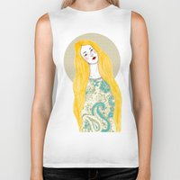 jessica lange Biker Tanks featuring Jessica by Juana Andres