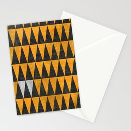 Triangles - White Stationery Cards