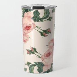 Rose Garden Butterfly Pink Travel Mug
