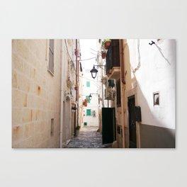 Streets of Monopoli Canvas Print