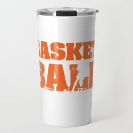 "Are you a proud Dad who loves to play Basketball? ""Basketball Dad"" T-shirt design for proud Daddy Travel Mug"