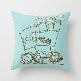 Ben's Monster Trucks no.1 Throw Pillow