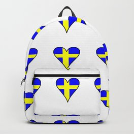 flag of sweden 2 Swedish,Sverige,Swede,Stockholm,Scandinavia,viking,bergman, strindberg Backpack
