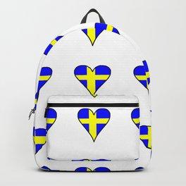 flag of sweden 2 Swedish,Sverige,Swede,Stockholm,Scandinavia,viking,bergman, strindberg Backpack