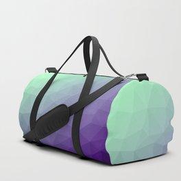 Purple green ombre gradient geometric mesh Duffle Bag