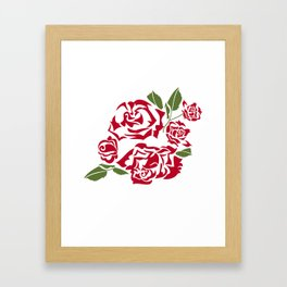 bouquet of roses Framed Art Print