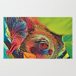 AnimalColor_Sloth_001_by_JAMColors Rug