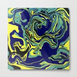 Blue Tang Psychedelic Metal Print