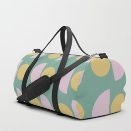 Scandinavian Geometric Pattern in Green, Lavender and Yellow Duffle Bag