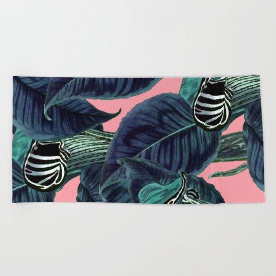 Tropical Flower Pattern #society6 #decor #buyart Beach Towel