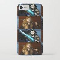 thorin iPhone & iPod Cases featuring Thorin & Fili by wolfanita