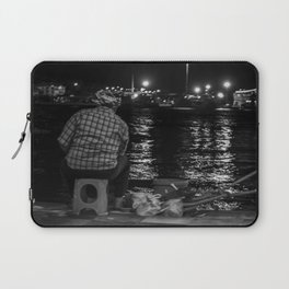 Fisherman in the night Laptop Sleeve