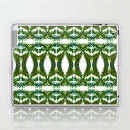 Palm Leaf Kaleidoscope (on white) #2 Laptop & iPad Skin