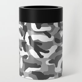 Grey Gray Camo Camouflage Can Cooler