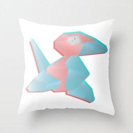 Virtual Porygon Throw Pillow