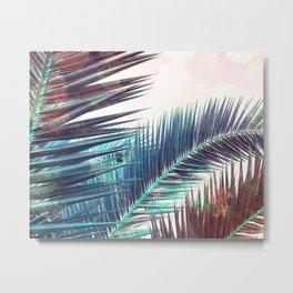 Nostalgic Palm Leaves #Decor #Vintage #BuyArt Metal Print